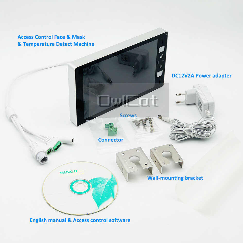 Камера видеонаблюдения 1080p, бинокулярная термо-камера с распознаванием лица, датчиком температуры тела, контролем доступа, термокамера