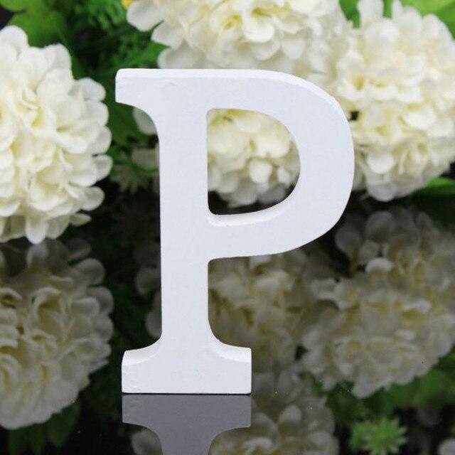 Large Wooden Letters Alphabet Wall Hanging DIY Art Craft Wedding Party Home Decor lettre alphabet decoration letras decorativas 5