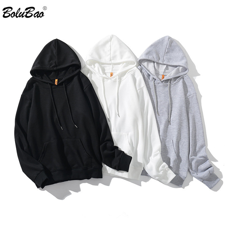 BOLUBAO Men Long Sleeve Hoodies Autumn Fashion Jogging Solid Color Men's Hooded Sweatshirt Wild Style Men Hooded Pullover