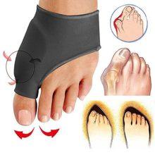 2 unids/par dedo del pie mejorado ortodoncia Hallux Valgus dedo del pie grande ortopédico alivio del dolor hueso pulgar manga juanete Corrector calcetines separador