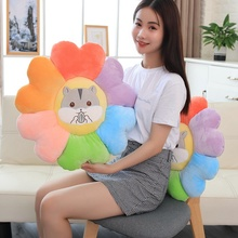 цена New 1pc 50cm Cute Cartoon Hamster Sunflower Plush Toy Soft Plant Flower Doll Nap Pillow Chair Cushion Girls Kids Christmas Gifts онлайн в 2017 году