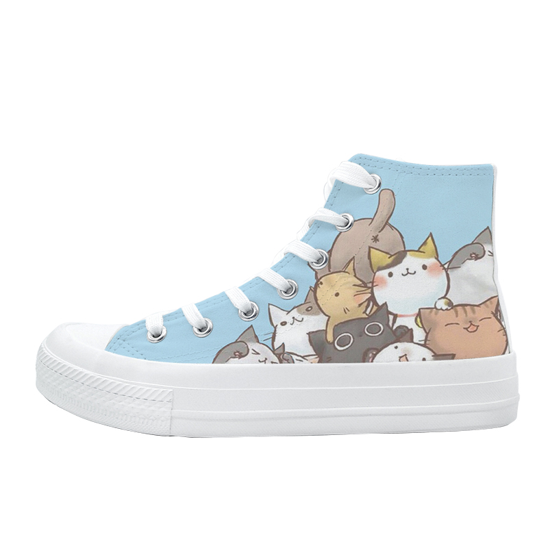 Image 5 - 2020 Spring New Style Anime Hand Painted Sneakers for Women High Top Breathable Casual Shoes Teengers Student Canvas ShoesWomens Vulcanize Shoes   -