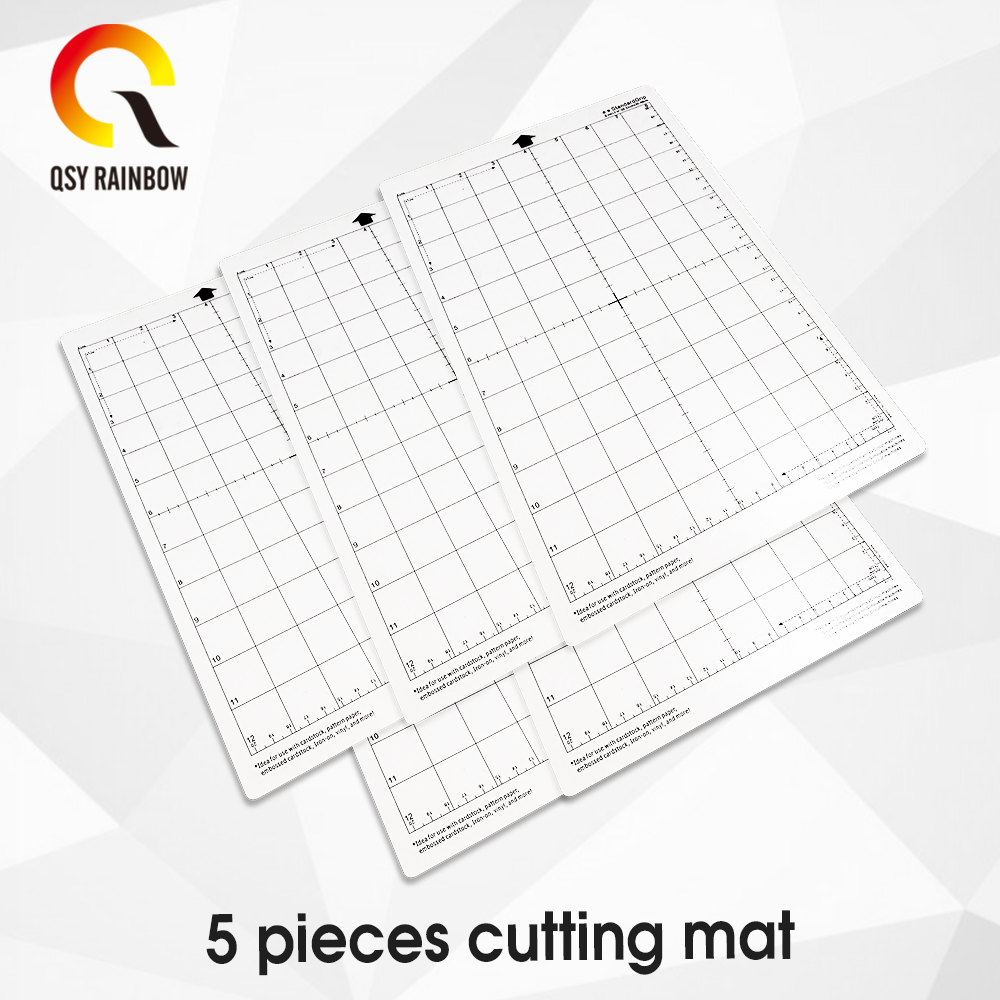 8x12 Inch 5pcs Cutting Mat For Silhouette Cameo 3/2/1 [Standard-grip] Adhesive&Sticky Non-slip Flexible Gridded Cut Mats