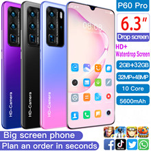 SOYES-teléfono inteligente P60 pro, versión Global, 2GB + 32GB ROM, 10 núcleos, pantalla HD de 6,3 pulgadas, gota de agua, 5600mAh, cámara de 48MP