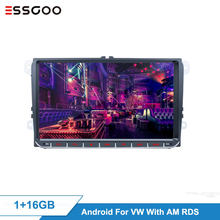 Essgoo Android 9'' Auto Radio AM RDS Auto Multimedia-Player GPS Navigation 2 din Autoradio 2din MP5 Video Für Volkswagen universal(China)
