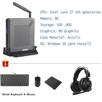 Windows 10 Pc Intel  I7 3537U Dual Core 4 Threads Mini Computer  Linux Desktops HDMI WIFI Portable Minipc