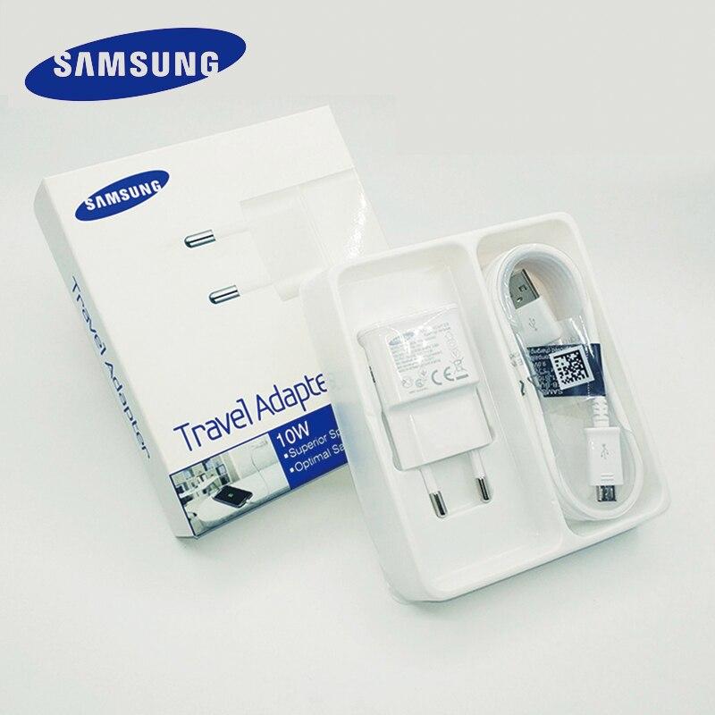 Original Samsung USB Carregador portatil de Viagem 5V 2A 1 M/1.5 M Micro Cabo USB para Galaxy S6 borda S7 J3 J5 J7 Nota 5 4 A3 A5 A7 2016