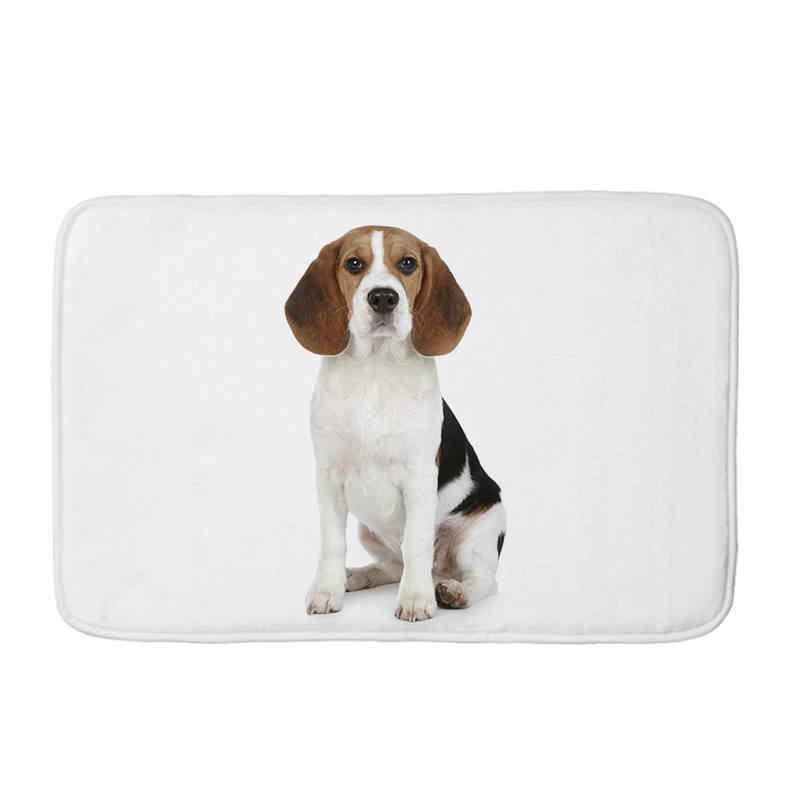 Animal de Estimação Do Gato Do Cão do Pug impresso Flanela Tapete Anti-Slip Tapete Tapetes tapetes de Cozinha Capacho de boas vindas para a frente porta