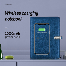 Business Meeting Notebook Wireless Charging Loose-leaf Notebook Smart Note Book Personalized Notebooks  With Power Band