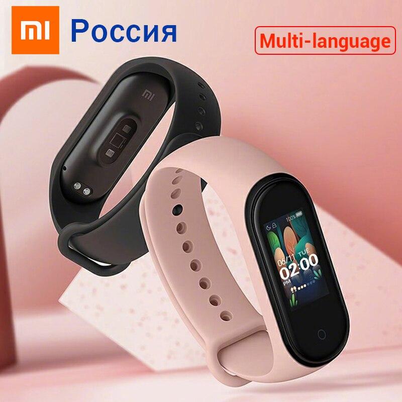 Xiaomi Mi Band 4 Original 2019 Newest Music Smart Miband 4 Bracelet Heart Rate Fitness 135mAh Color Screen Bluetooth 5.0(China)