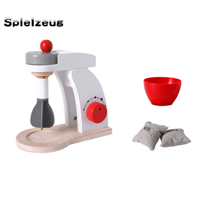 Image 3 - Kids Wooden Pretend Play Sets Simulation Toasters Bread Maker coffee machine Blender Baking Kit Game mixer Kitchen role toy#g4
