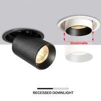 2019 novo led recesso teto downlight ajustável 360 graus 12 w pode ser escurecido recesso led luz interior lâmpada cree cob luzes do ponto