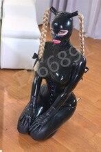 اللاتكس غطاء كامل ارتداءها مع الجوارب والقفازات و انفصال ذيل حصان غطاء محرك السيارة بما في ذلك مشد