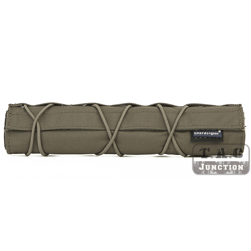 Emerson 22cm Silencer Airsoft Suppressor Cover Mirage Heat Shield Sleeve RANGEER GREEN Shooting Muffler Baffler Protect Cover