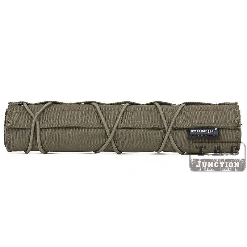 Emerson 22cm Silencer Airsoft Suppressor Cover Mirage Heat Shield Sleeve RANGEER GREEN Shooting Muffler Baffler Protect Cover