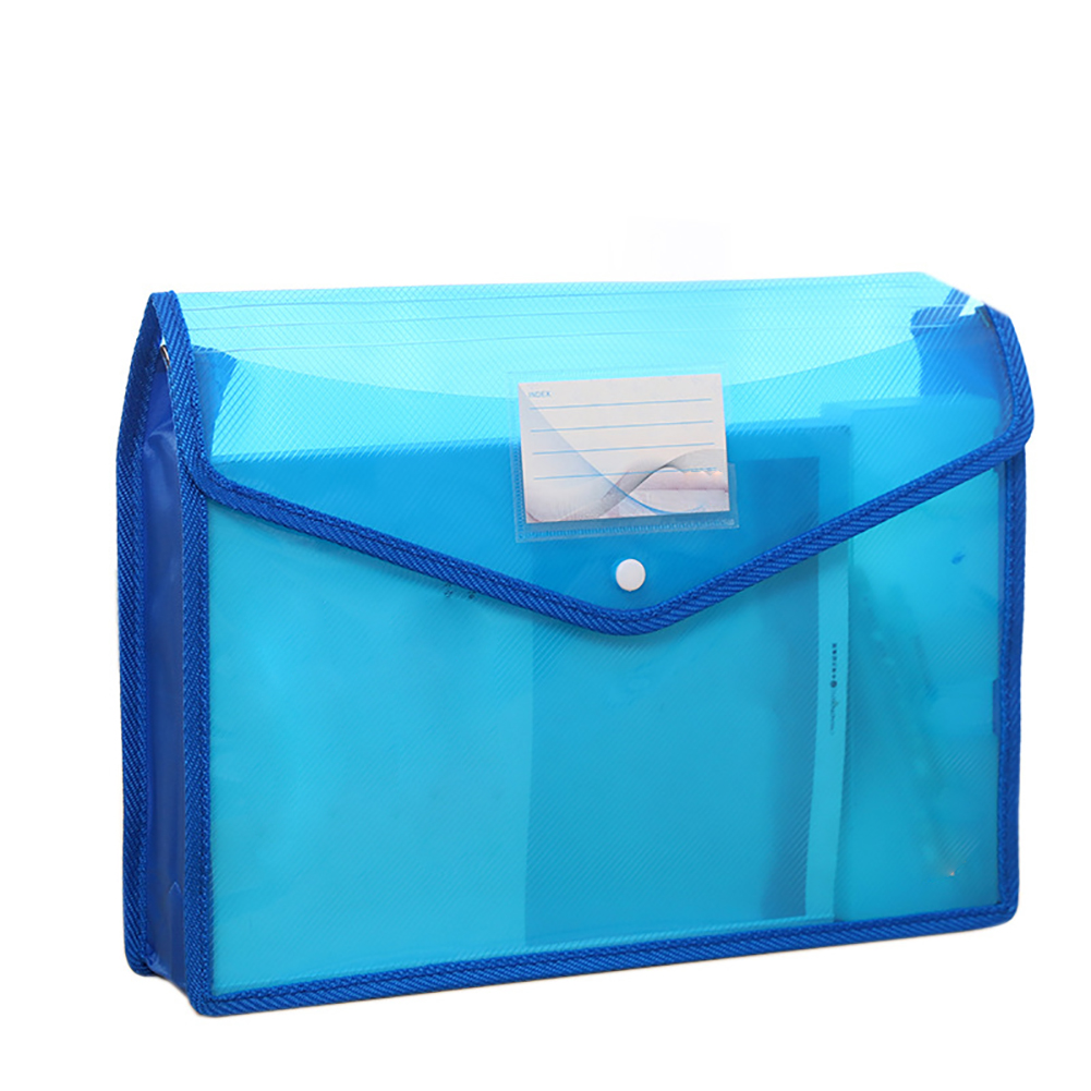 A4 Storage Large Capacity Button Folder File Bag Thickened Stationery Test Paper Document Holder Portable Waterproof Lightweight