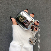 高級メッキミラーイヤホンapple airpods 1/2/プロカバーかわいいヘッドフォンのための空気ポッド3保護funda