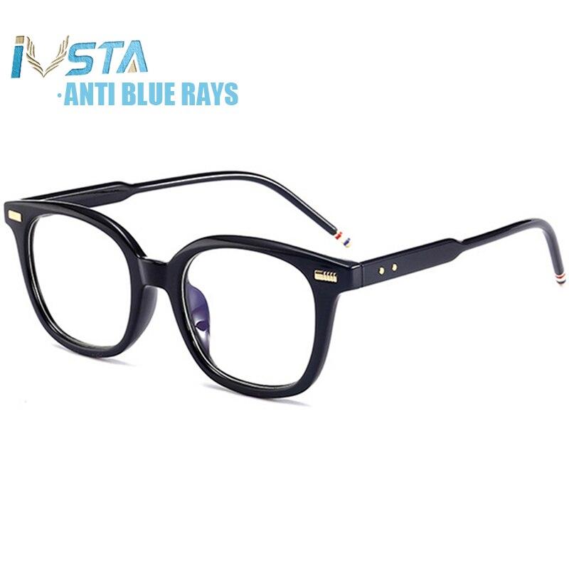 IVSTA Thom TB 402 Luxury Brand Designer Anti Blue Light Glasses Frame Men Women Spectacle Computer Gaming Myopia Prescription
