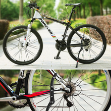 Parking Racks Bicycle Stand Support Side Stand Foot Brace Cycling Parts Road Bike Stand Cycling Accessories insert type parking frame steel l type cycling bicycle racks storage bike display stand wheel hub repair rack parking holder