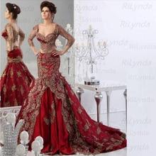 Red Muslimische Abendkleider 2020 Lange Sleeves Soft satin Spitze Islamischen Dubai Kaftan Saudi Arabisch Lange Abendkleid Prom Kleid