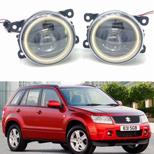 лучшая цена For Suzuki Grand Vitara 2 JT 2005-2015 Car styling New Led Fog Lights 30W DRL Angel Eyes Fog Lamp 2pcs