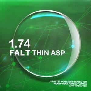 Image 3 - Handoer דק מדד 1.74 נגד קרינת הגנת אופטי עדשת חזון יחידה אספריים אנטי Uv מרשם עדשות, 2Pcs