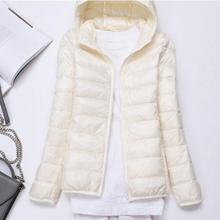 Down-Jacket Light Hooded Collar Women Slim Thin And New