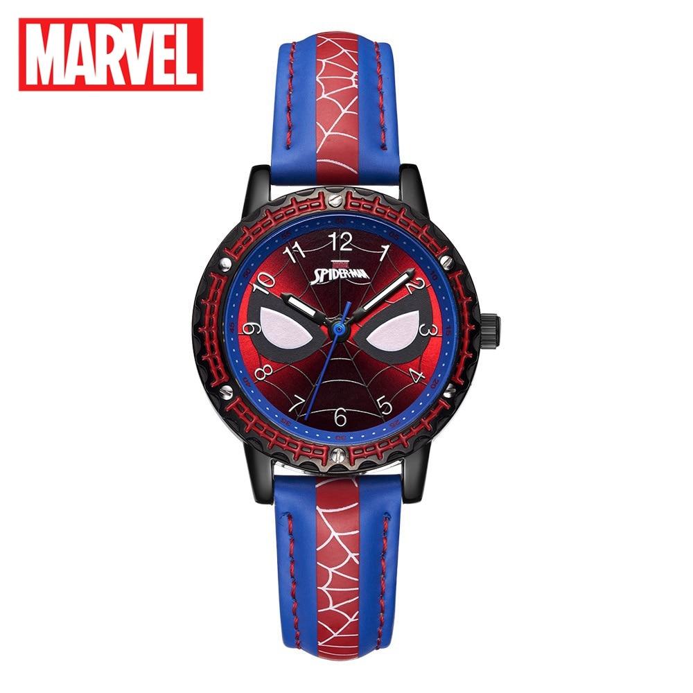 MARVEL Avengers Spider-Men Super Hero Childhood Dream Children Japan Quartz Watch PU Band Waterproof Watches Kid Gift Cool Clock