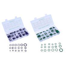 265 шт./кор. 18 Размеры в ассортименте, набор, автомобильные инструменты для HNBR кондиционер уплотнительное кольцо уплотнения набор автомобилей уплотнительные кольца ж/Пластик чехол зеленого цвета
