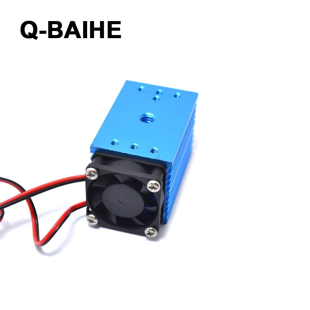 12V 488nm 60mW регулируемый синий свет точка сцены/линия/Крест лазерный модуль - 2