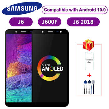 Super AMOLED Für Samsung Galaxy J6 2018 J600 J600F J600Y LCD Display Touch Screen Für SM-J600F J600G J600FN/ds montage Teile