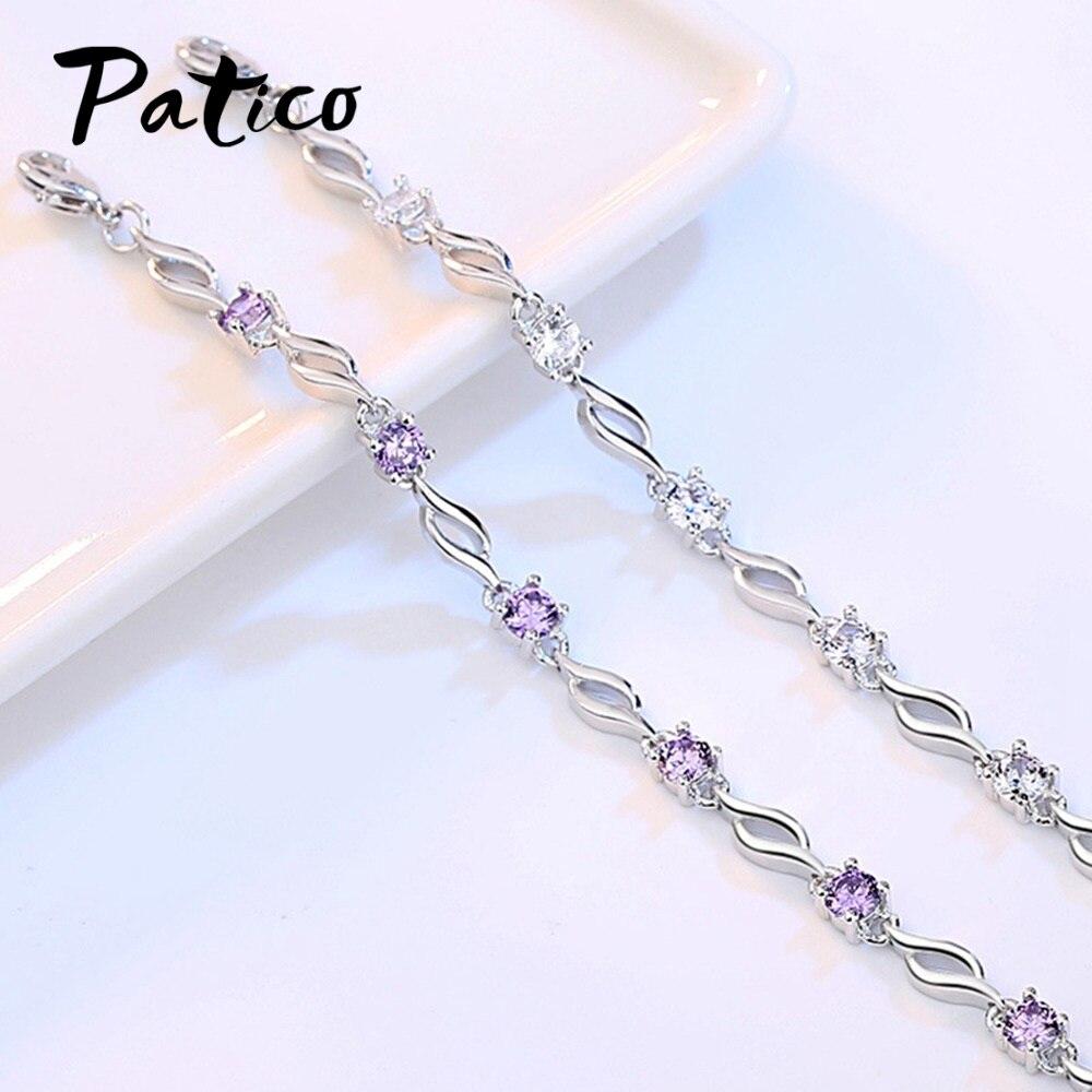 Adjustable Silver Bracelets Leo Constellation Hand Chain Link Bracelet Clear Bangle Custom Glass Cabochon Charm