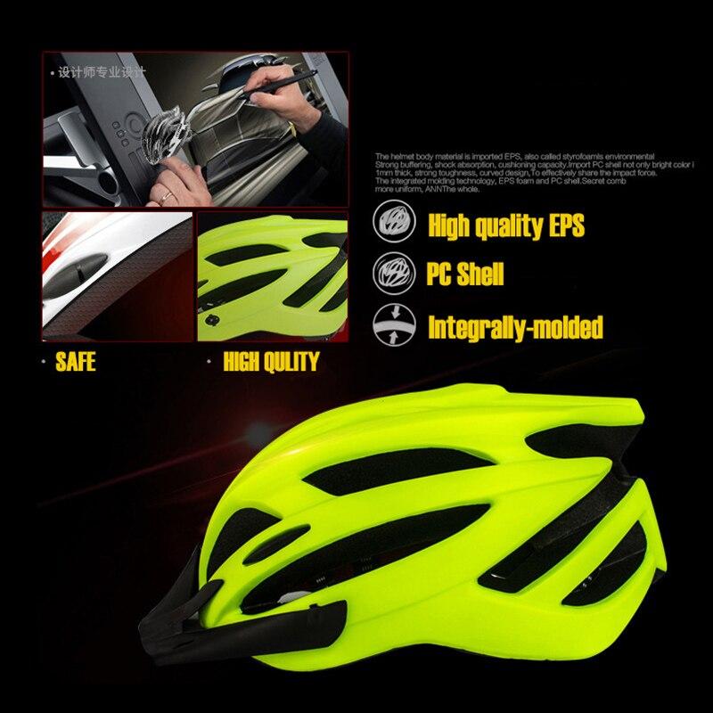 Casque de vélo à lumière LED, couverture ultralégère, pour vtt et vélo de route, intégré, moulé, unisexe, casquette de sécurité