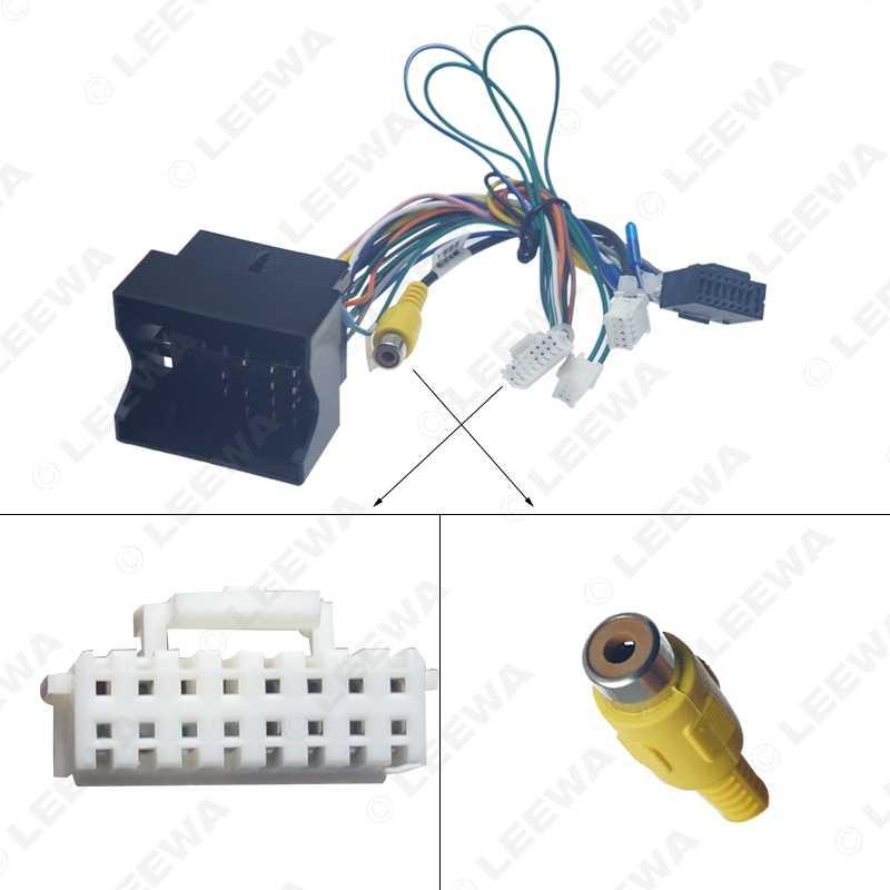 LEEWA Android voiture lecteur multimédia Navi Radio CANBUS boîte faisceau de câbles pour Volkswagen Golf 5/6/Polo/Passat/Jetta/Tiguan/Touran/Skoda