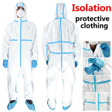 Safety Protective Clothing Disposable Suit Hooded Coverall Painting Anti-Spraying Body Protection