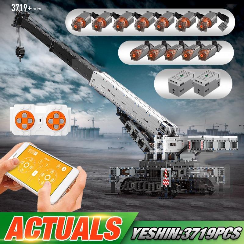 Yeshin Technic Car Compatible With Lepining MOC-20920 RC Liebherrs LTM 11200 Model Building Blocks Brick Kid Christmas Toys Gift