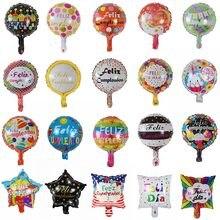 Balões de alumínio de festa feliz aniversário, 50 peças, 10 polegadas, feliz aniversário, balões de cumplanos, decorações de festa, dia feliz, golobs de ar