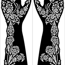 4pcs/set Large Henna Hand Tattoo Stencils Women Girls Hand Finger Body Paint Henna Tattoo Templates Stencil DIY Indian Style
