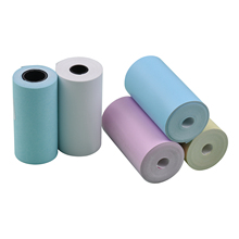 5PCS Color Thermal Paper Roll Set 57x30mm/2.17x1.18in Photo Picture Receipt Memo Printing for Peripage/Paperang Pocket Printer