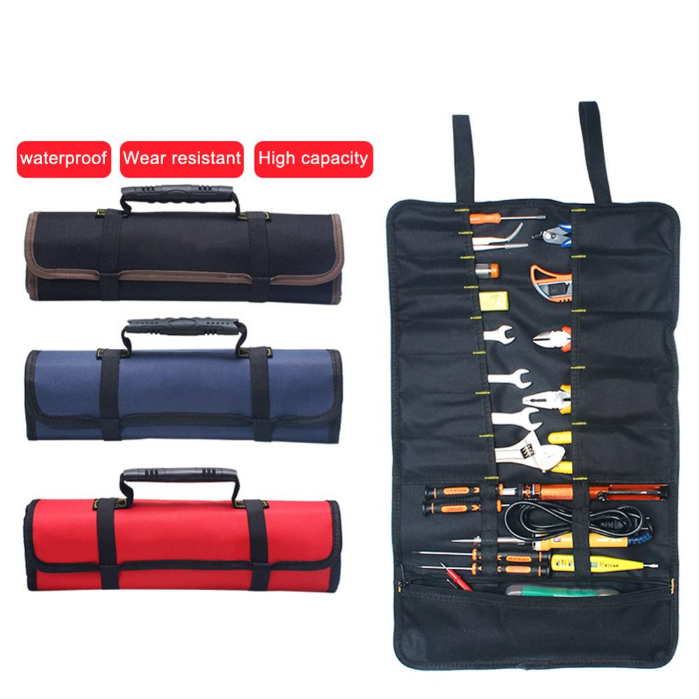 Universal Motorcycle Tools Bag Multifunction Oxford Pocket Toolkit Rolled Bag Portable Large Capacity Bags For BMW