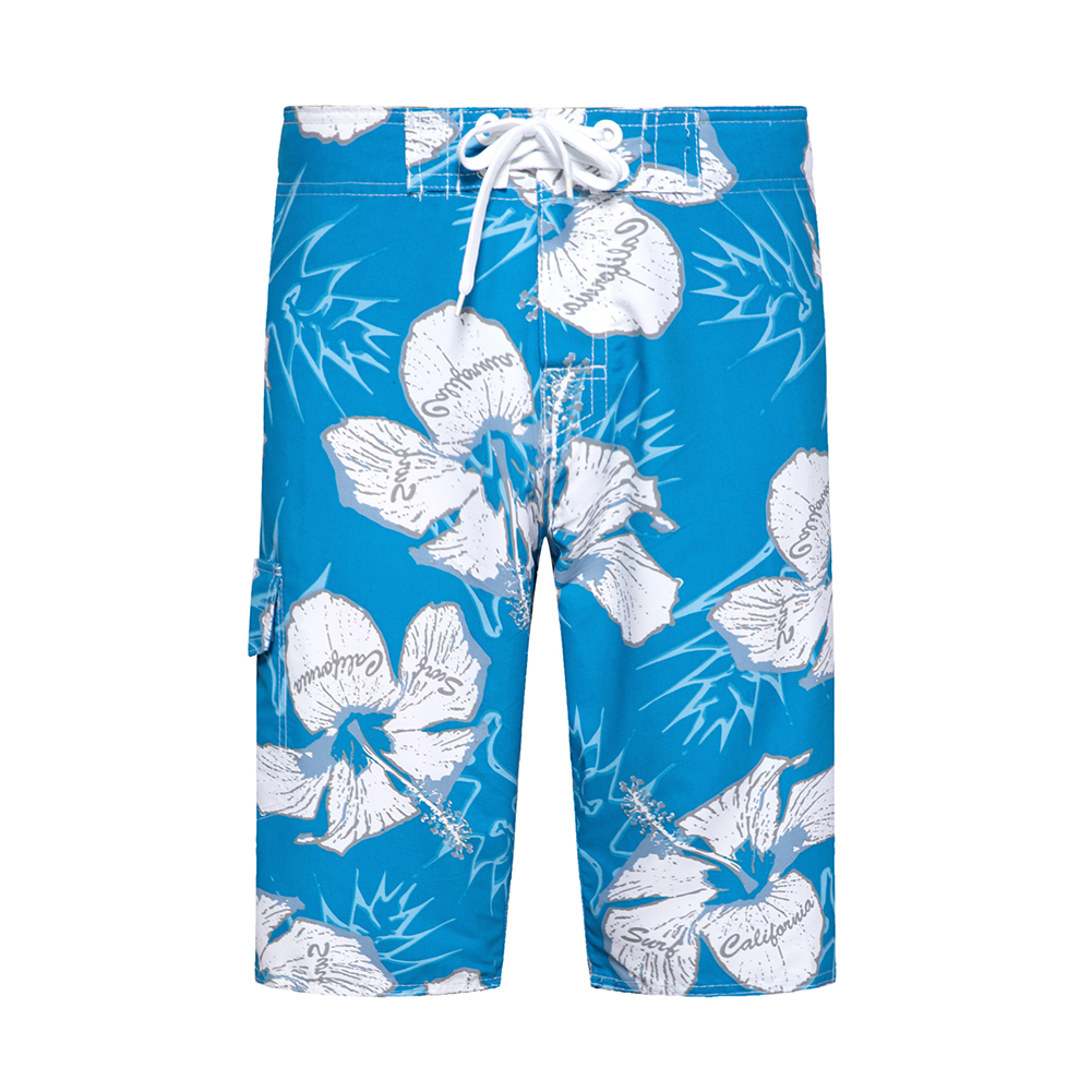 Woodvoice Brand Mens Shorts Flower Quick-drying Beach Pants Man Large Size 28-38 Straight Casual Pants Beachwear Male Shorts