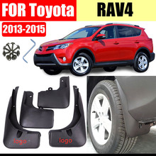 Front Rear 4 pcs For RAV4 2013-2015 Mudflaps Rav4 Mudguards Fender Mud flap Splash Guard Fenders Mud Guard Car accessories car styling abs front rear door mud splash flap guard fender for honda cr v 2015 crv 4dr mudguards 2012 2013 2014 2015 black