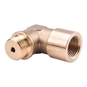 Image 5 - SPEEDWOW 90degree M18x1.5 O2 Lambda Sensor Oxygen Sensor Extender Spacer For Decat Hydrogen Brass