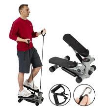 S025 Aerobic Fitness Step Air Stair Climber Stepper Exercise Machine New Equipment Silver Home Gym Supplies