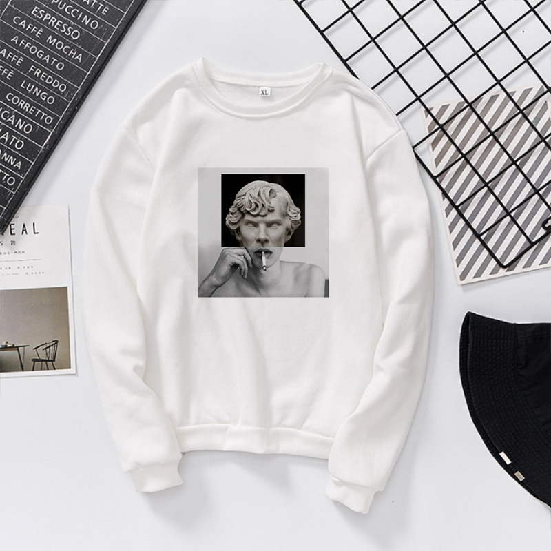 New Cigarette Print Hoodie Autumn Women Hoodies Hip Hop Album Women's Sweatshirt Men's Long Sleeve Pullovers Coat Female Hoody