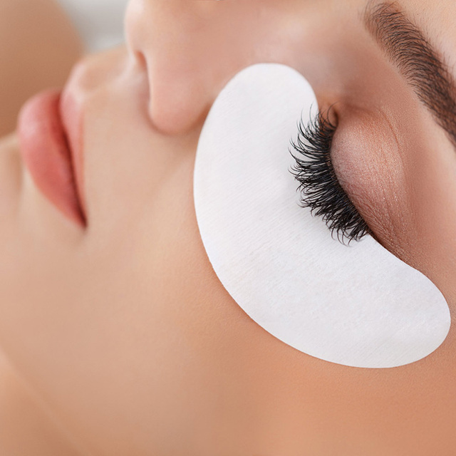 50/100pairs/Lot Eyelash Patches Eyelash Extension Lint Free Under Eye Gel Paper Patch for Eyelash Building Under Eye Lash Pads 5
