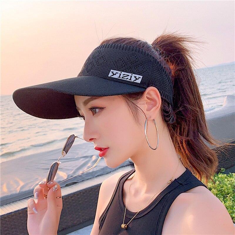 New Style Visor Hat Sprots Visor Caps Summer Sun Visor Hat Outdoor Sun Cap For Women
