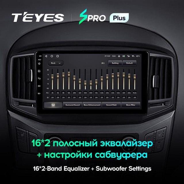 TEYES SPRO Plus Штатная магнитола For Хендай H1 2 For Hyundai H1 2 2017 - 2018 Android 10, до 8-ЯДЕР, до 4 + 64ГБ 32EQ + DSP 2DIN автомагнитола 2 DIN DVD GPS мультимедиа автомобиля головное устройство 5