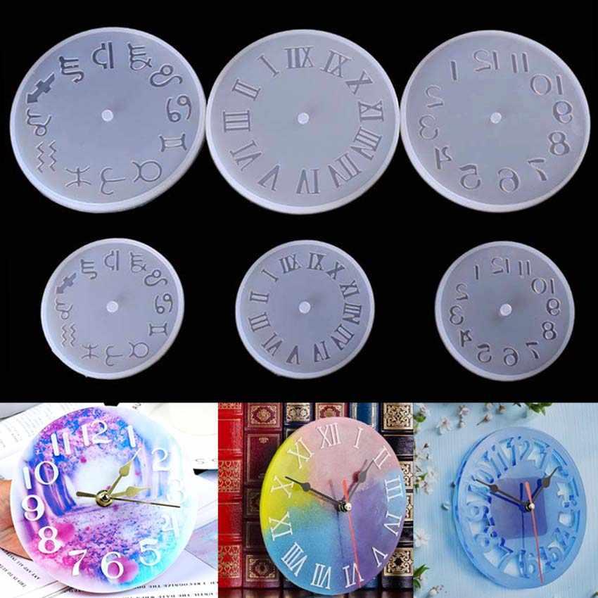סיליקון עובש שעון עבור תכשיטי 10/15cm גודל קטן וגדול שעון שרף סיליקון עובש בעבודת יד כלי DIY אפוקסי שרף תבניות