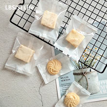 LBSISI Life 100pcs Transparent Pineapple Cake Nougat Candy Cookie Bags Hot Seal Energy Cheese Food Package Bag For Wedding Party